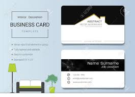 Business Card Examples For Interior Designers Business Card Or Name Card Template For Interior Designer Modern