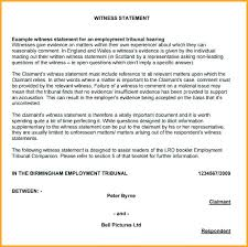 work statements examples example witness statement template free download for work workplace