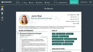Novoresume 2018 Free Professional Resume Builder With Regard To