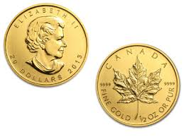1 2 Ounce Canadian Maple Leaf Gold Coin