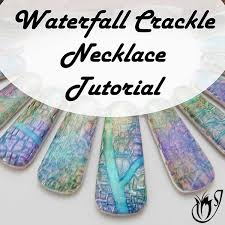 polymer clay waterfall le necklace