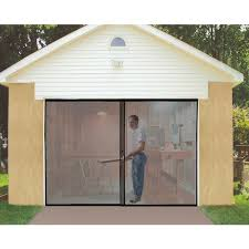 single garage door screen