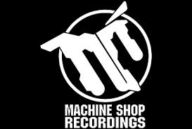 machine shop logo. machine shop recordings image logo