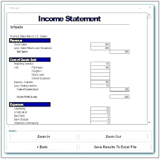 profit and loss form simple income statement examples free sample example format basic