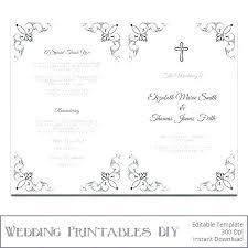 Wedding Program Scroll Wedding Program Fan Template Scroll Navy Sunbeam Yellow