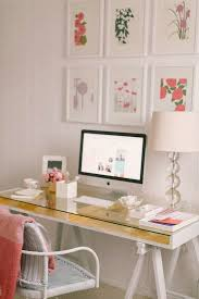 colorful feminine office furniture. a white desk with gold lining and glass top colorful feminine office furniture h