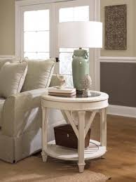 promenade round end table living room