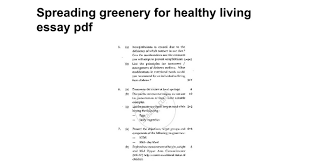 spreading greenery for healthy living essay pdf google docs