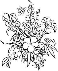 Flowers Coloring Page Flowers Coloring Pages Pdf Vputiinfo