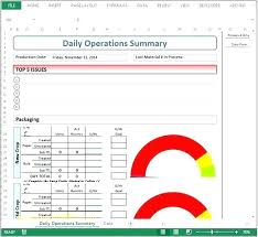 Daily Production Report Format Template Excel Hourly