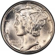 1939 Mercury Dime Values And Prices Past Sales