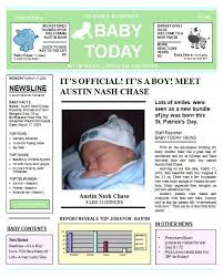 Baby Boy Newspaper Birth Announcement Keepsake Personalized Digital Download Jpg And Pdf Printable Up To 11 X 14 For Framing