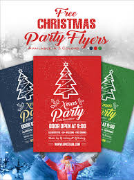 Free A4 Christmas Party Flyer Design Template Mock Up Psd