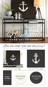 diy nautical wall art using the anchor stencil on a wood pallet