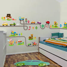2017 cartoon cars highway track wall stickers for kids rooms sticker children s play room bedroom decor wall art decals decorating wall stickers decorating