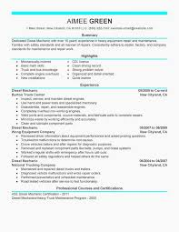 Unfor Table Diesel Mechanic Resume Examples To Stand Out Easy To