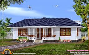Modern sloping roof house   keralahousedesignsHouse plan Kerala style