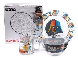 Купить набор для завтрака стеклянный «<b>star wars</b>» 3 пр.: <b>кружка</b> ...