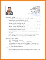 8 Biodata Format For Teachers Job Emt Resume