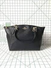 Coach F28993 Small Kelsey Satchel Shoulder Handbag Leather Black