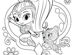 Shimmer And Shine Coloring Pages Shimmer And Shine Printable