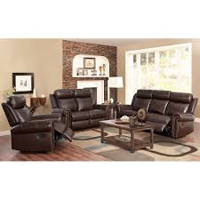 Leather Reclining Living Room Sets Fairfax 3 Piece Top Grain Leather Reclining Living Room Set
