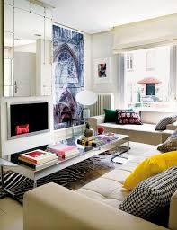 colourful living room with zebra rug
