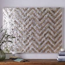 capiz wall art crystal formation