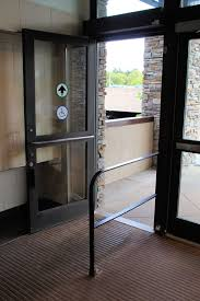 if a motion sensor is used to actuate a door with an automatic operator then guide rails and safety sensors are typically required