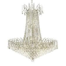 elegant lighting victoria 29 in 16 light chrome crystal crystal empire chandelier