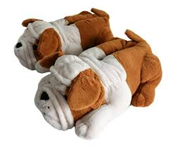Fuzzy Winter <b>Indoor</b> Animal <b>Slippers</b> for Adult and Kid, Bull <b>Dogs</b>