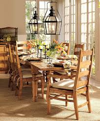 ... Elegant Table Centerpiece Accessories Decoration : Contempo Dining Room  Decoration Using Solid Light Oak Wood Dining ...