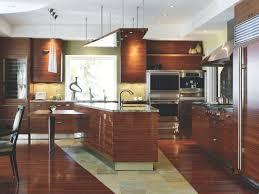artistic kitchen designs. u-shaped kitchen with teak cabinets artistic designs