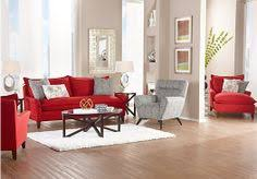 Sofia Vergara Catalina Red 7Pc Classic Living Room Sofia Vergara Furniture A44