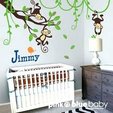 monkey wall decal with monkey wall decor for nursery kids wall decal monkeys on branch and vines nursery wall decal monkey wall monkey wall decals australia
