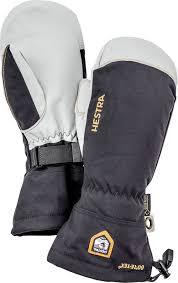 Hestra Army Leather Gore Tex Ski Snowboard Mittens L Black