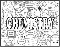 Small Picture Chemistry Seek and Find Science Doodle Page by EzPz Science TpT