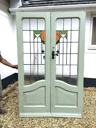 double doors at old glass doors double antique stained glass doors period reclaimed old wood