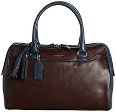Coach Legacy Leather Haley Two Toned Satchel Top Handle Bag 25807