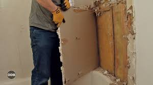 how to remove bathtub tile surround easily