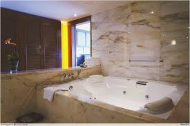 with a bathroom bigger than most hotel rooms it was the first time we ve seen a double seater bubble bath and get this your very own private sauna in
