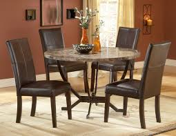 Round Kitchen Table Simple Dining Room Interior Design With Brown - Kitchen dining room table and chairs