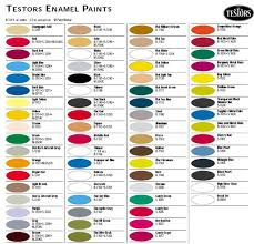 Testors Spray Paint Chart Testors 1 4 Oz Bottles Enamel Paint