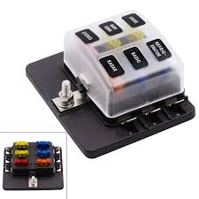 max 32v 100a plastic cover 6 way blade fuse box holder m5 stud max 32v 100a plastic cover 6 way blade fuse box holder m5 stud led indicator for car boat marine
