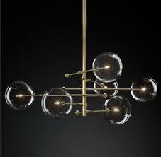 blown glass globe balance chandelier 14175