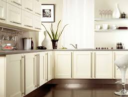 walls painting ideas ikea kitchen cream walls cabinets brown floor tiles