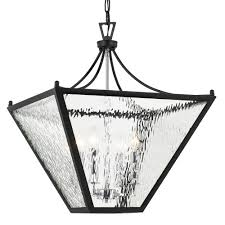 crystorama park hill 4 light matte black polished chrome medium lantern