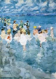children at the beach 1897 maurice prendergast