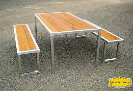 stainless steel and wood outdoor furniture designs