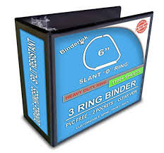 6 Inch Binders 3 Ring Binder Slant D Rings Clear View Pockets 6 Inch Black